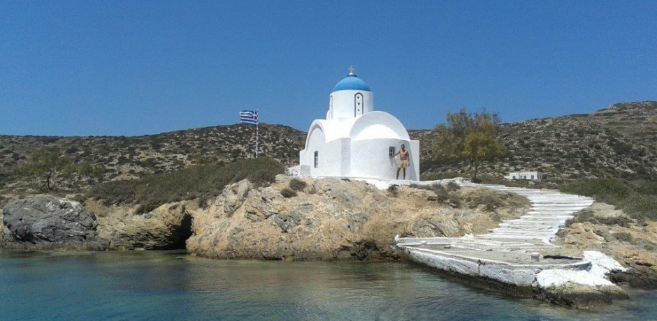 Swimming beneath Agios Panteleimon