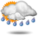 Μερική ηλιοφάνεια με πιθανές βροχοπτώσεις