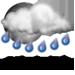 Μερικώς συννεφιασμένος με βροχές